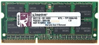 4 Gt 1066 MHz DDRIII SO-DIMM, Kingston KTL-TP1066/4G (K)