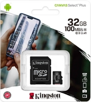 Kingston 32 Gt microSD Canvas React UHS-I Speed Class 3 (U3) -muistikortti